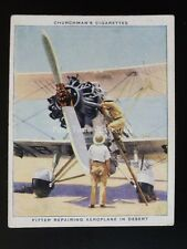 No.4 FITTERS REPAIRING AIRPLANE IN DESERT The R.A.F. at Work RAF Churchman 1937