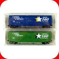 N Scale ROUTE 160 50' Box Car 2-Pack BNTK #3193/3194 - MICRO TRAINS Special Run