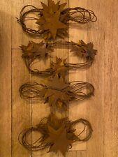 "Rustic ""Star"" Christmas Garland, 4 Strands"