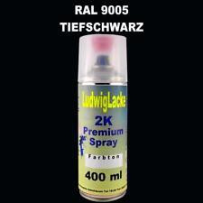 Premium 2K Spraydose 400ml Acryl Lack hochglänzend RAL 9005 TIEFSCHWARZ