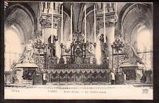 c.1910 ND phot interior altar Notre Dame Paris France architecture postcard