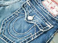 *HOT AUTHENTIC Men TRUE RELIGION @ BILLY SUPER T -WH BOOTCUT Denim Jeans 31 x 30