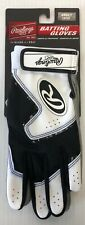New Rawlings 5150 Baseball Batting Gloves Adult Large White/Black softball mens