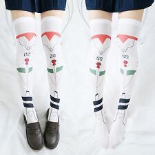 Anime Evangelion EVA Ayanami Rei Tight Hight Socks Cosplay Overknee Stockings