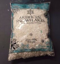 Artificial Snow flake 2 ounces SNOWFLAKES For Decorating Your Home or Village