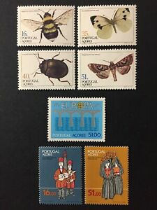 Portugal 1984 - Azores stamps - Butterflies, Costumes, Europa Bridges MNH
