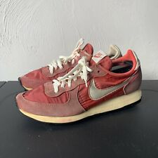 Rare Vintage 80s Nike Air Valkyrie Sneakers Running Shoes Usa 9 Red Swoosh