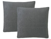 """PHF Waffle Weave Throw Pillow Case Cotton Winter 2Pack 26""""x26"""" 8 colors EuroSham"""
