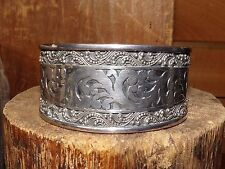 "Heavy Sterling 925 Vintage Cuff Bracelet Marked Size 6.5""   59.1 gram"