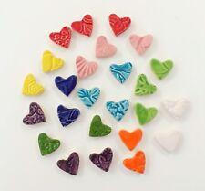 25 Multi Colored Handmade Mosaic Hearts
