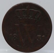 1831 Nederland - The Netherlands 1 cent 1831 U  Willem 1. KM# 47