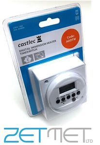 Digital Immersion Heater 24 Hour / 7 Day Weekly Time Switch Timer Programmer