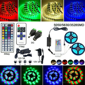 10M 20M 5M LED Strip Light SMD 3528 5050 5630 300LED + Remote + Power Supply 12V
