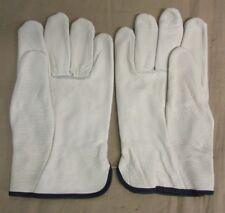 1 Pair Mcr Safety Industrial Work Gloves Cow Grain Leather Cream Xl 3201xl