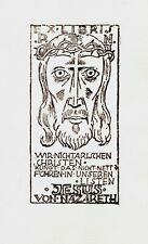 FINGESTEN Michel, Ex libris R. N. Jesus von Nazareth, clichè, Deeken 485