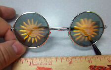 Novelty Hologram Sunglasses, Youth size 4.75 in wide, Smiling Sun, Fun for kids