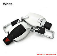 White Smart Leather Key Cover Case Fits Mercedes Benz AMG Class C E S GL CLA