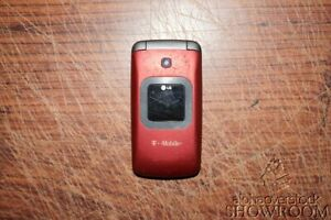 Used & Untested LG GS170 Red Flip Phone For Parts Or Repairs Only