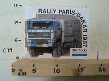 STICKER,DECAL DAF TRUCKS PARIS-DAKAR 1987 3600 NOT 100 % OK B