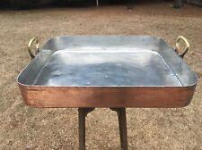 "Large Gaillard 25.5"" Hammered Copper Roasting Pan W/New Tin 31+ Lbs Poule Paris"