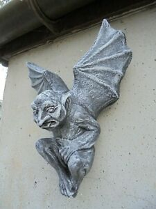Winged Gargoyle Wall Plaque Concrete garden ornament
