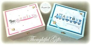 Personalised Baby Boys/ Girls Keepsake Memory Box New Baby Christening Gift