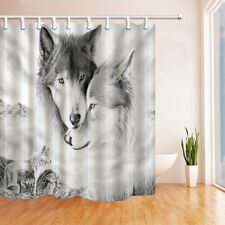 Wolf Totem Polyester-Fabric Bathroom Shower Curtain waterproof 180*180cm new