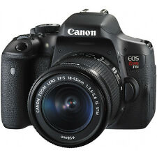 Canon EOS 750D 24.2MP Digital SLR Camera - Black (Kit w/ 18-55mm Lens)