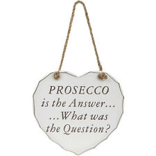 Large Shabby Chic Wooden Heart Plaques Family Bedroom Home Door Signs Gift Boxed Prosecco Is The Answer