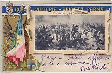 49° REGGIMENTO FANTERIA - BRIGATA PARMA - VILLAFRANCA - CARTOLINA ILLUSTRATA