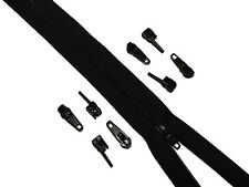 10 x  Black Zips Sliders / Toggles / Zipper Ends