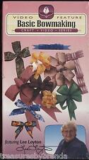 Basic Bowmaking Bow Making Video Lee Layton VHS New Pew Knotless Layered Twisted