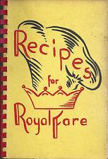 *BRONX NY 1966 *RECIPES FOR ROYAL FARE *RARE COOK BOOK *REDEEMER LUTHERAN CHURCH