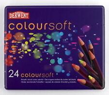 Derwent Coloursoft Crayons 24 tin