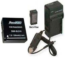 Battery + Charger for Panasonic DMCGF2 DMCGF2C DMC-GF2C