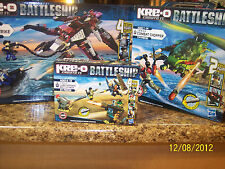 NIB Kre-o Battleship Land Defense, Ocean Attack, Combat Chopper, Alien Strike