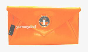 MIMCO MOLTEN ENVELOPE CLUTCH IN PATENT LEATHER IN NEON ORANGE BNWT RRP$229