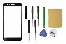 Black  Front Screen Glass Lens Replacement for  LG K10 2017 + Tools