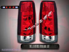 1988-98 SILVERADO GMC SIERRA C/K TRUCK TAIL LIGHTS + 3RD BRAKE LIGHT SMOKE LED
