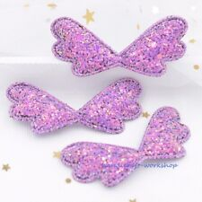 12Pcs Cute Padded Fairy Cupid Wing Patches DIY Appliques Barbie Doll Accessories
