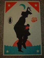 ERNESTO YERENA Print GANAS YAQUI handbill poster shepard fairey