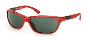 NEW Authentic RAY-BAN Junior Red Green Square Kids Sunglasses RJ 9054 S 189/71