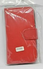 Samsung galaxy S III leather flip case/wallet (19300) Red