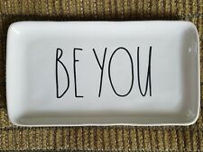 RAE DUNN ~BE YOU ~ New Trinket Tray Single Small Platter Plate Dish~ Mothers Day