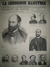 DéPUTéS CHARENTE CORSE COTE D'OR COTES-DU-NORD LA CHRONIQUE ILLUSTRéE 1869
