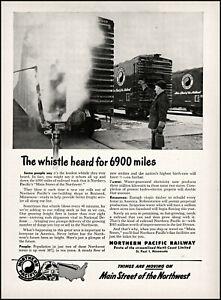 1952 Northern Pacific Railway Main Street of the Northwest photo print ad S20