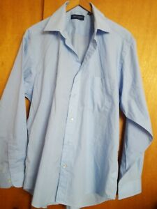Peter england blue cotton blend shirt 16inch.