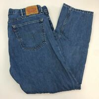 Levi's 505 Denim Jeans Mens 40X32 Blue Straight Leg Regular Fit Medium Washed