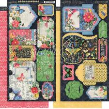 GRAPHIC 45 ~ FLUTTER ~ Tags & Pockets ~ 2 Sheets