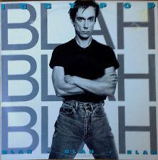 IGGY POP - BLAH BLAH BLAH - A&M - 1986 LP- CO PRODUCED BY DAVID BOWIE